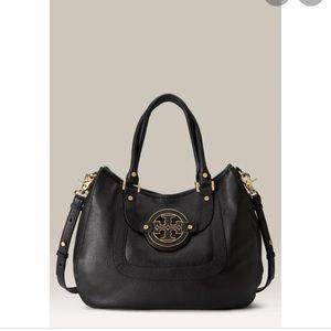 Tory Burch Amanda leather hobo satchel bag
